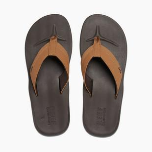 Men's Contoured Cushion Flip-Flop Sandal- Brown