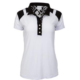 Women's Shoulder Detail Short Sleeve Polo