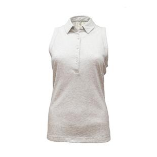 Women's Cotton Jersey Sleeveless Polo
