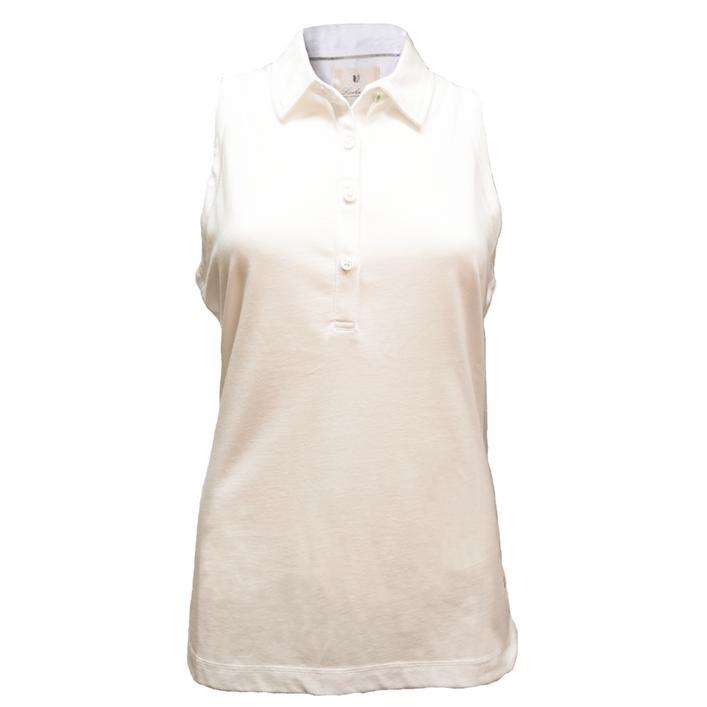 Women's Cotton Jersey Sleeveless Polo