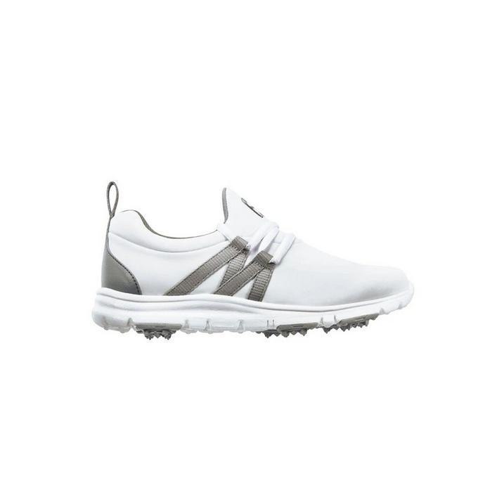 Junior Leisure Spikeless Golf Shoe - White/Grey