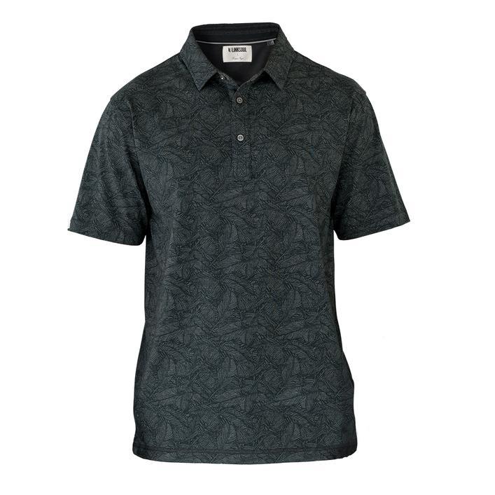 Men's Leaf Print Short Sleeve Shirt