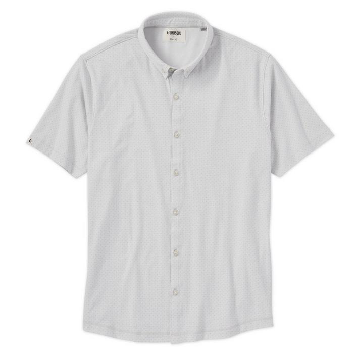 Chemise à micro points à manches courtes pour hommes