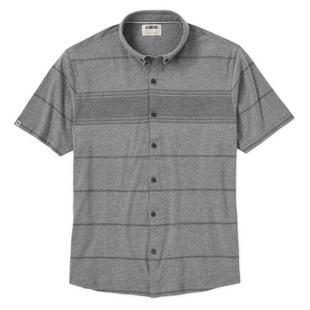 Men's Tonal Stripe Button Up Short Sleeve Shirt
