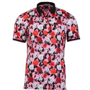 Men's Rose Printed Short Sleeve Shirt