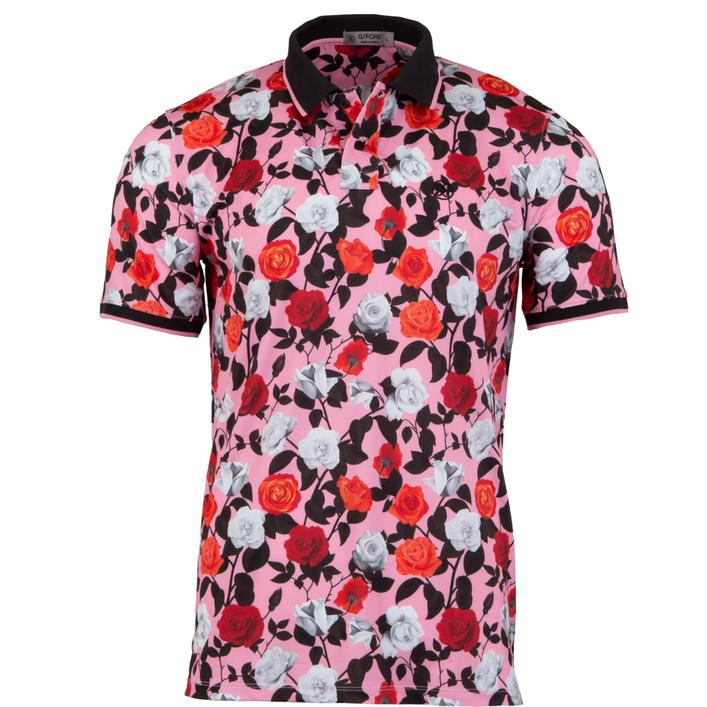 Men's Rose Printed Short Sleeve Shirt