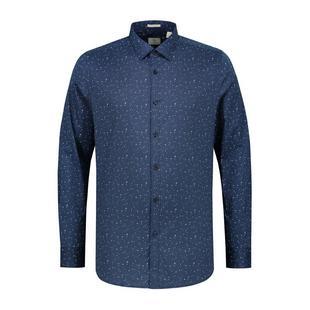 Men's Multi Dot Fine Stretch Poplin Button Up Long Sleeve Shirt