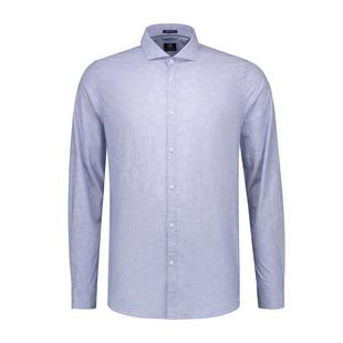 Men's Flower Jacquard Button Up Long Sleeve Shirt