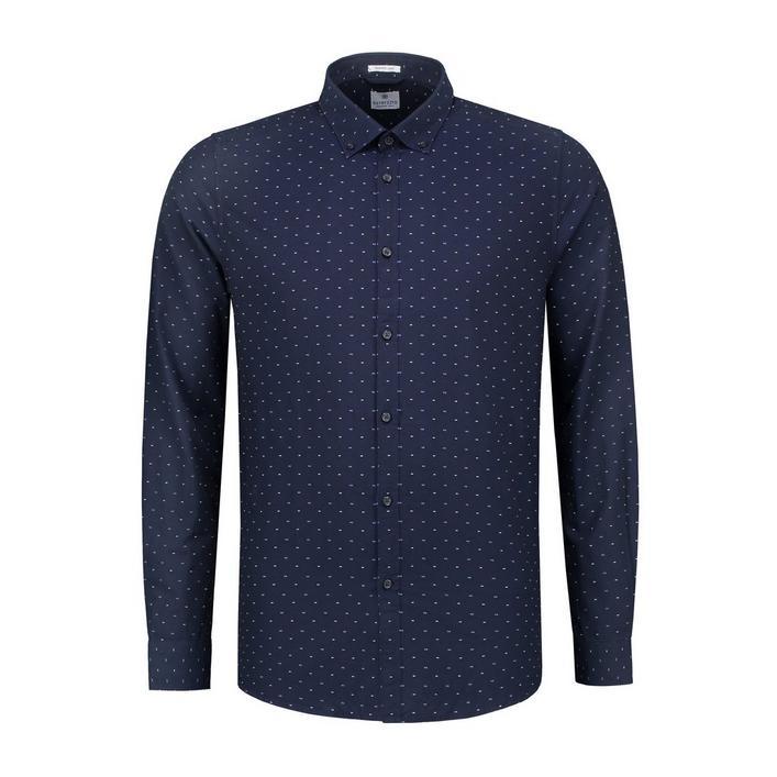 Chemise Bow Tie Oxford avec boutons à manches longues pour hommes