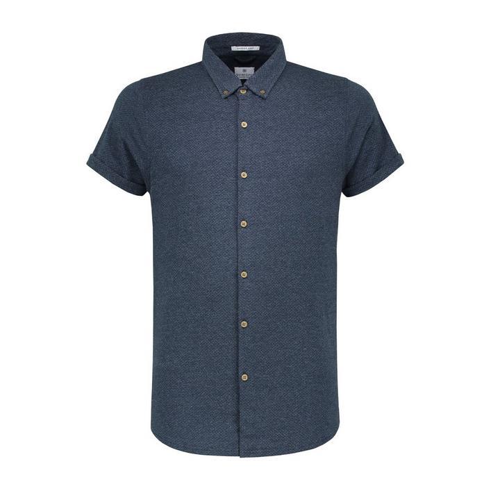 Chemise Universe Dot Melange en jersey avec boutons à manches courtes pour hommes