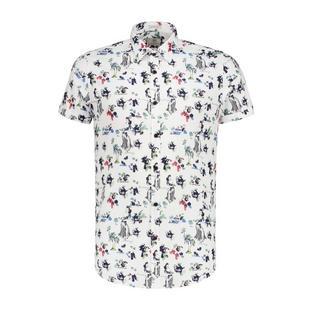 Men's Hawaii Fine Stretch Poplin Button Up Short Sleeve Shirt