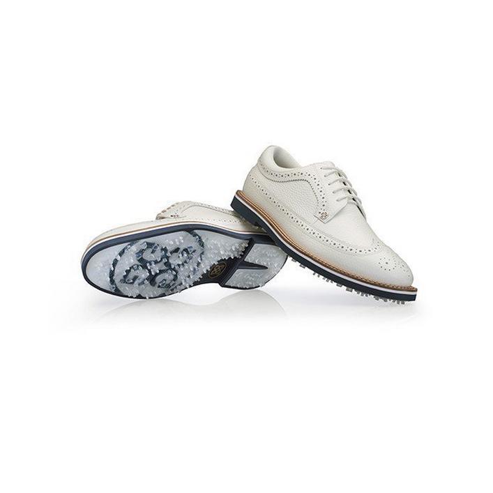 Chaussures Longswing Gallivanter sans crampons pour hommes - Blanc/Bleu marin