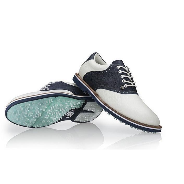 Men's Saddle Gallivanter Spikeless Golf Shoe - White/Navy