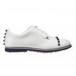 Women's Stud  Cap Toe Spikeless Golf Shoe - White/Navy