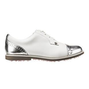 Chaussures Cap Toe Gallivanter sans crampons pour femmes - Blanc/Argent