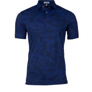 Men's Carl Camo Plaited Stretch Jacquard Short Sleeve Shirt