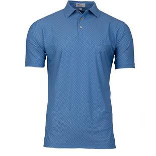 Chemise Beckana à imprimé à pois extensible en maille à manches courtes pour hommes