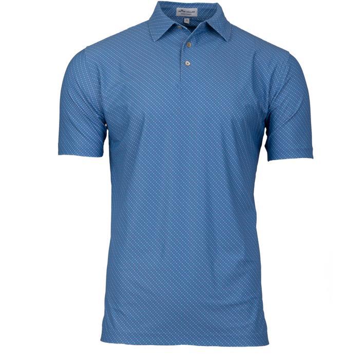 Men's Beckana Printed Multi Dot Stretch Mesh Short Sleeve Shirt
