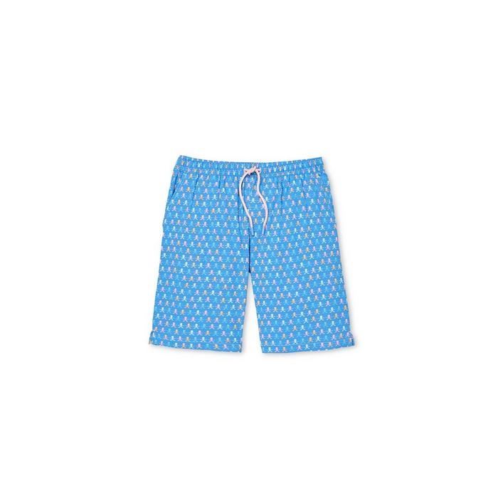 Men's Skull and Rods Swim Trunk