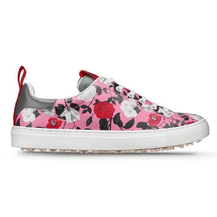 Chaussures Rose Disruptor sans crampons pour hommes - Rose/Blanc
