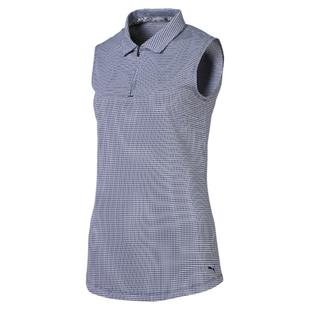 Women's Checker Sleeveless Polo
