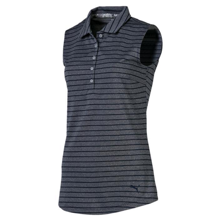 Women's Rotation Stripe Sleeveless Polo