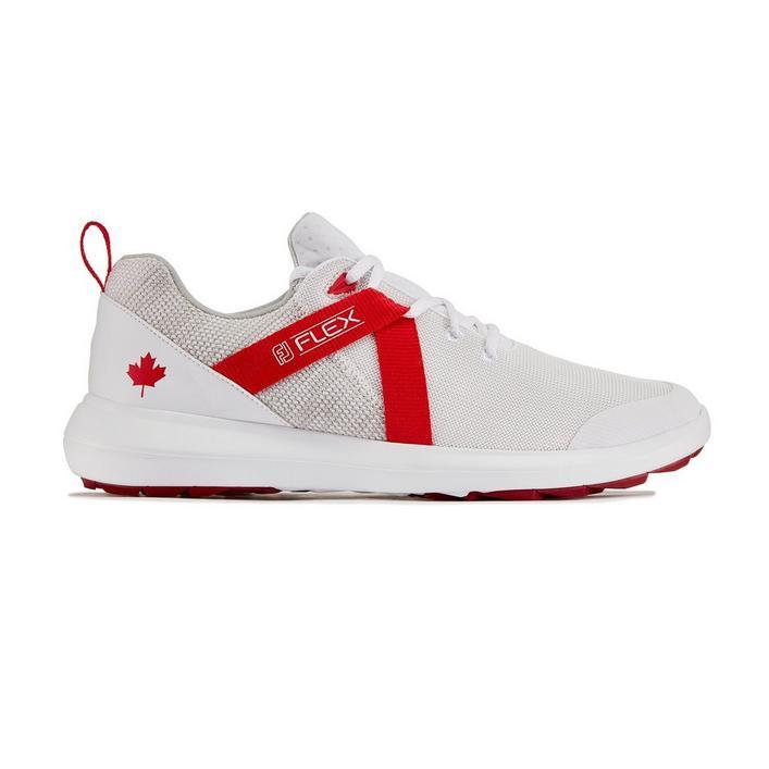 Chaussures Flex sans crampons pour hommes - Édition Canada (Blanc/Rouge)