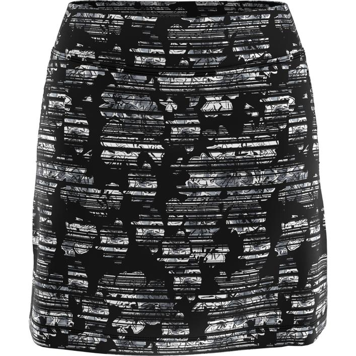 Jupe-short Stainglass Floral en tricot de 18 po pour femmes