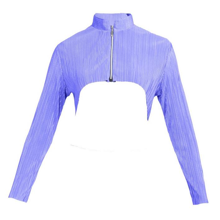 Women's Crunch Cropped Shoulder Long Sleeve Jacket