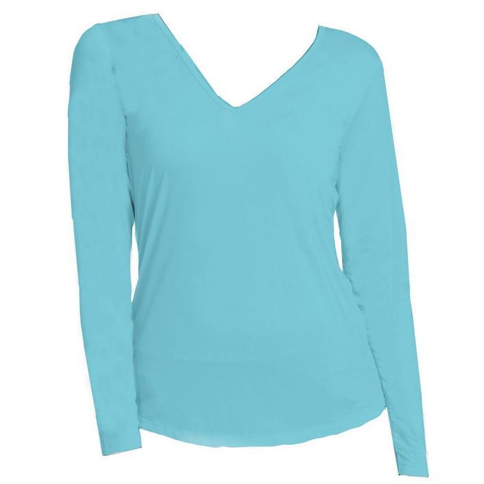Women's Sunsense Sun Protection V-Neck Long Sleeve Top