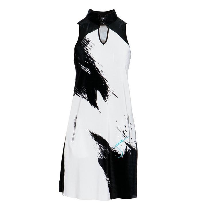 Robe Crunch à imprimé de toile sans manches pour femmes