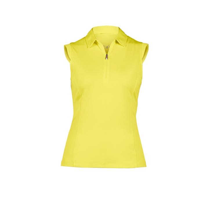 Women's Nelly Solid Sleeveless Polo Top