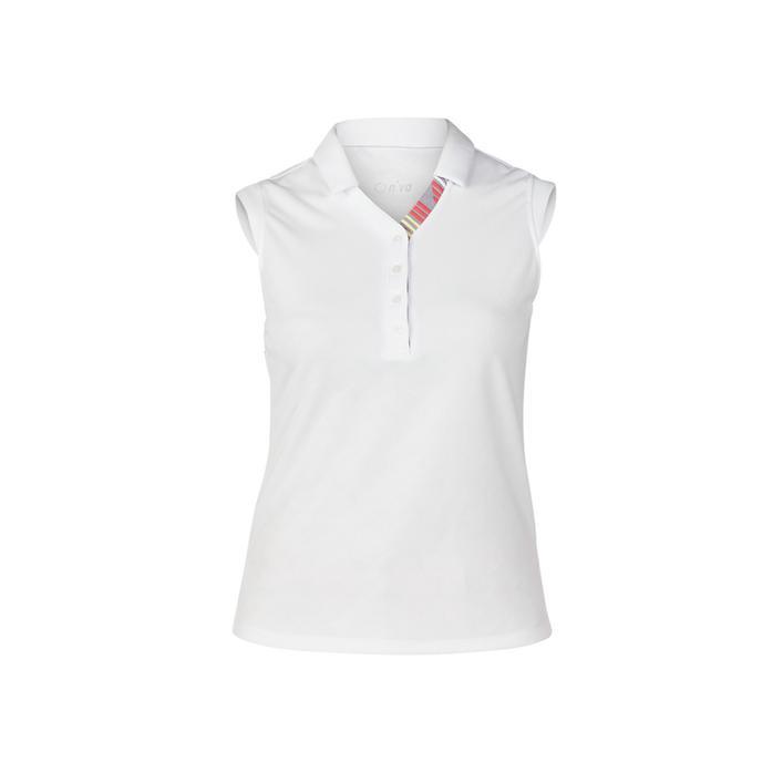 Women's Gigi Textured Sleeveless Polo Top