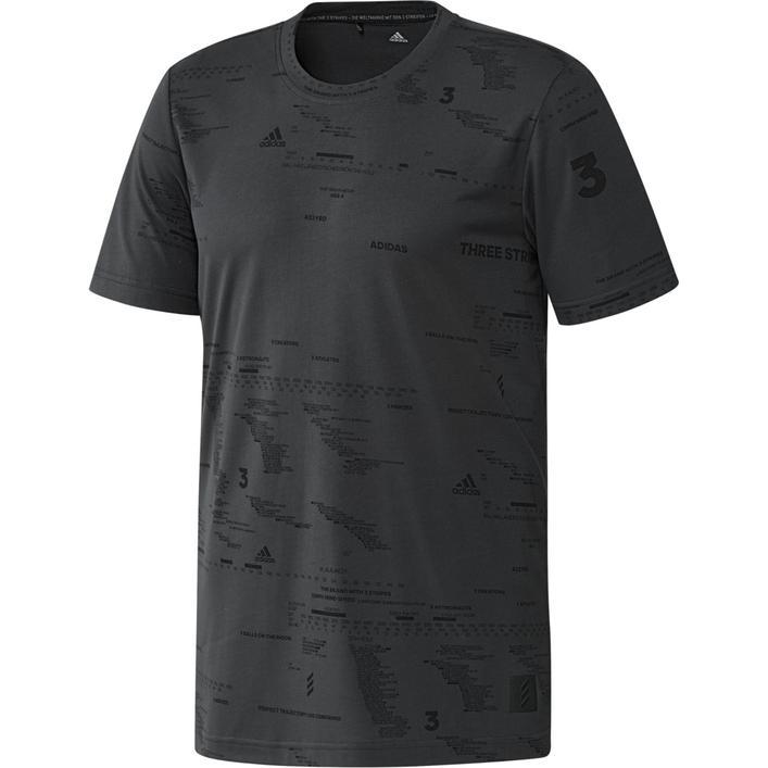 T-shirt Adicross avec imprimé intégral pour hommes