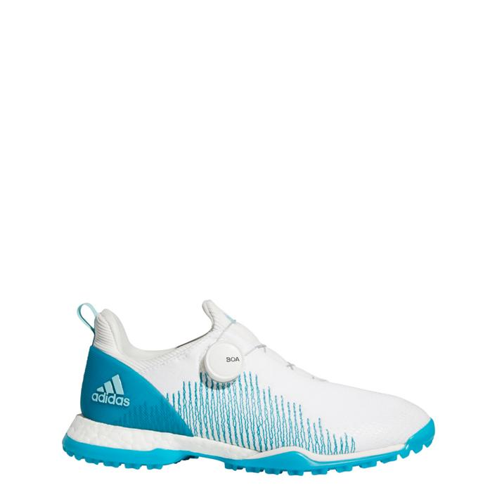 Women's Forgefiber BOA Spikeless Golf Shoe - White/Blue