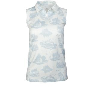 Women's Dry Printed Toile Sleeveless Polo