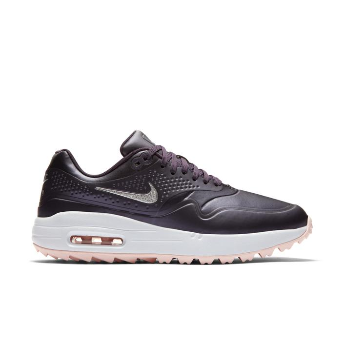 Chaussures Air Max 1 G sans crampons pour hommes - Gris foncé/Rose