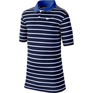 Boy's Dry Victory Stripe Short Sleeve Polo