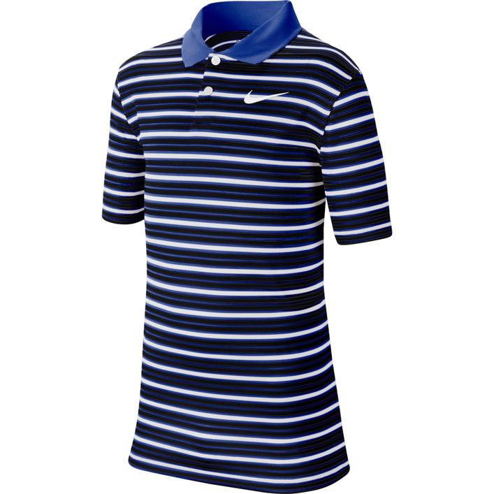 Boy's Dry Victory Stripe Short Sleeve Polo
