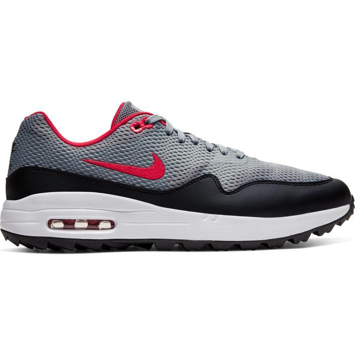 Chaussures Air Max 1 G sans crampons pour hommes - Gris/Rouge/Noir