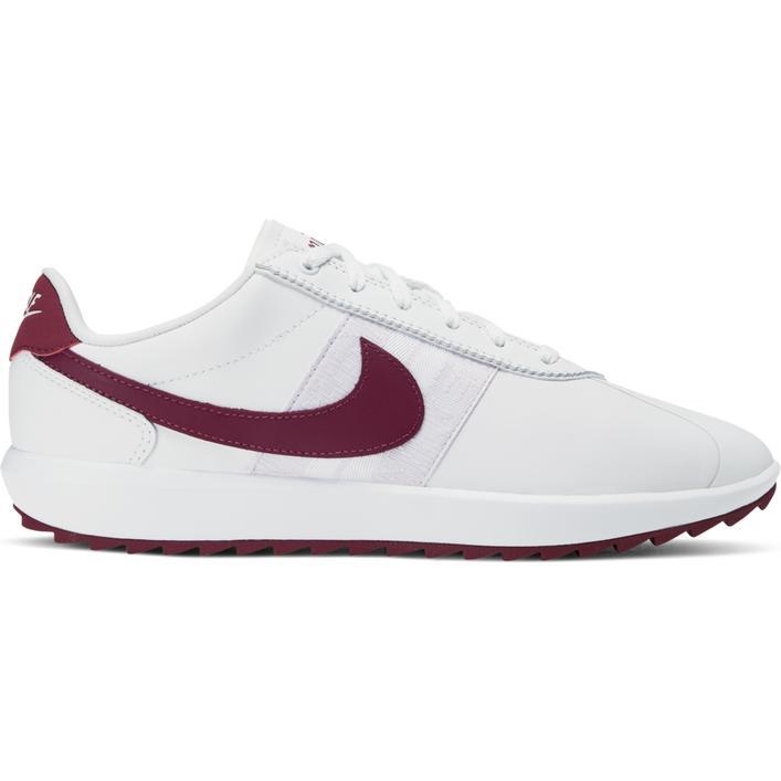 Chaussures Cortez G sans crampons pour femmes - Blanc/Mauve foncé