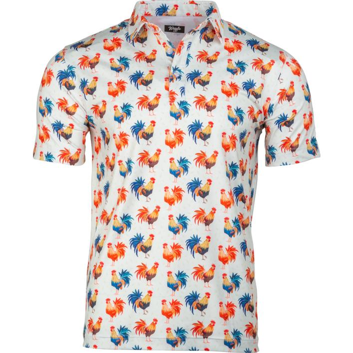 Men's Cocky Rooster Short Sleeve Polo
