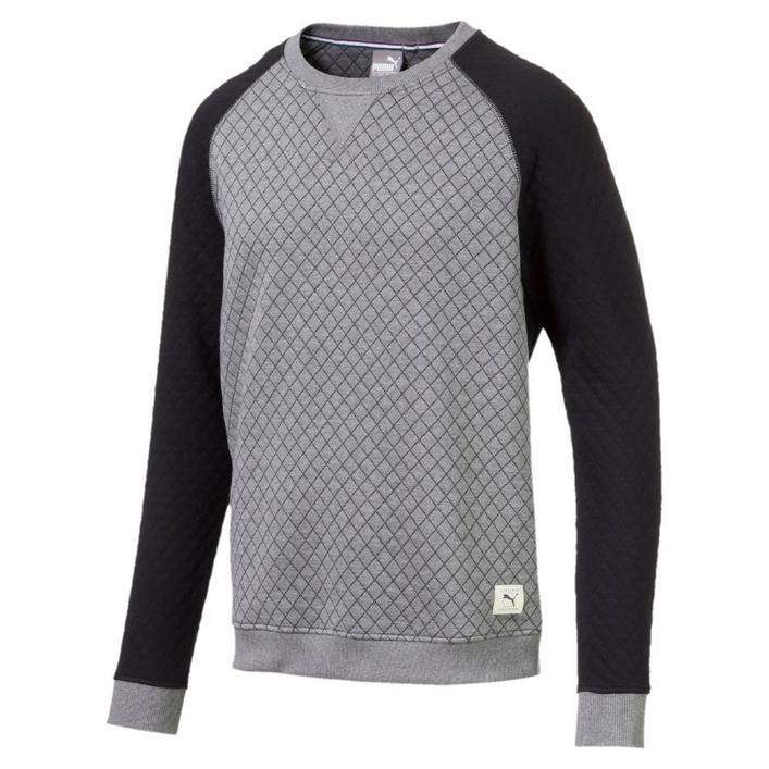 Men's Quilted Crew Sweater