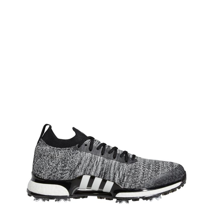 Men's Tour360 Primeknit Spiked Golf Shoes - Black/White