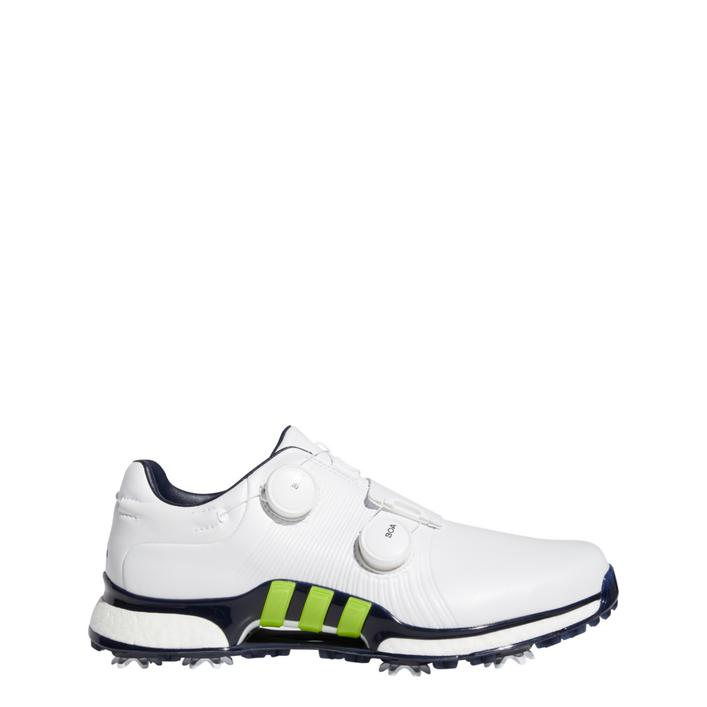 Men's Tour360 XT Twin Boa Spiked Golf Shoes - White/Green/Navy