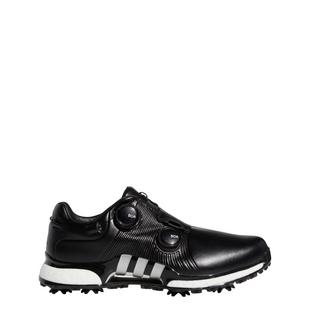 Men's Tour360 XT Twin Boa Spiked Golf Shoes - Black/Silver/White