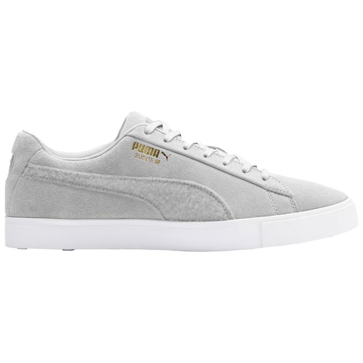 Men's Suede G Patch LE Spikeless Golf Shoe - Light Grey