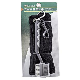 Microfiber Towel and Brush Combo Pack