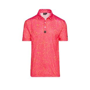 Men's Paint Splatter Short Sleeve Polo