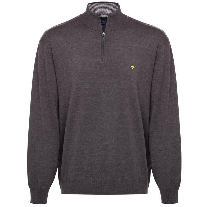 Men's Heather 1/4 Zip Sweater